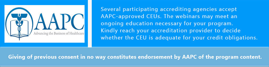 On Each Order Receive, 1.0 AAPC Approved CEU